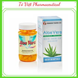 TPCN viên uống đẹp da-giải độc-Aloevera sữa ong chúa -Tô viêt-Robinson Pharma usa-chai 100 viên thumbnail
