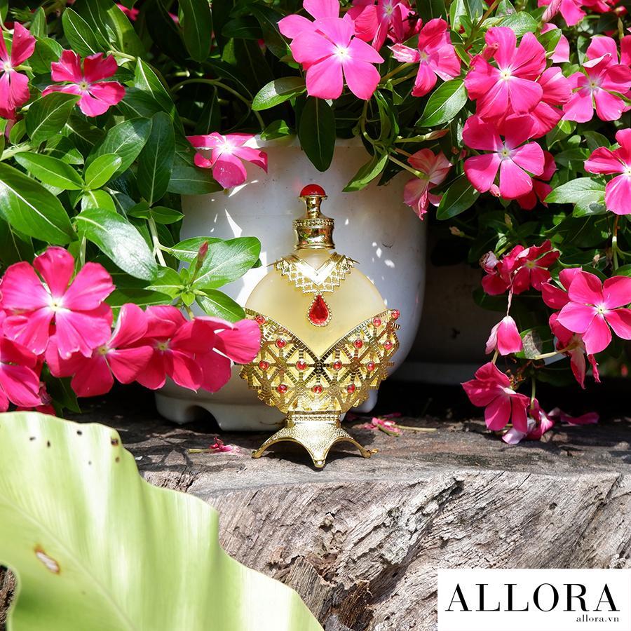 Nước hoa tinh dầu Dubai Hareem Al Sultan Gold hương hoa cỏ, hương gỗ 35 mL chính hãng