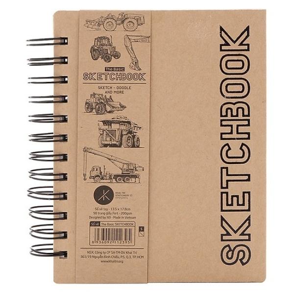 Mua Sổ Vẽ Tay Khai Trí Stationery The Basic Sketchbook - Mẫu 2 - Mẫu Xe