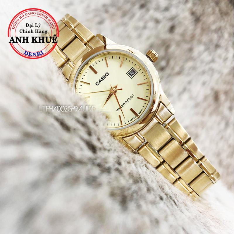 Đồng hồ nữ dây kim loại Casio Standard LTP-V002G-9AUDF chính hãng Anh Khuê sang trọng