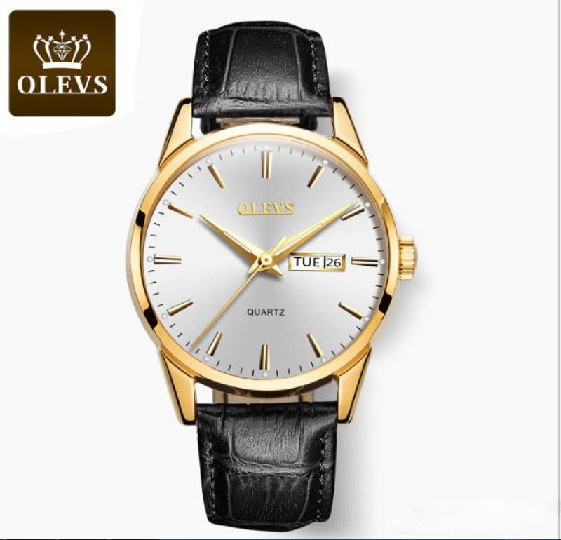 Nơi bán Đồng Hồ Nam dây da thời trang Cao Cấp OLEVS 6898G (Chọn màu)
