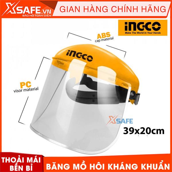 Tấm che bảo hộ INGCO HFSPC01 chống va đập. Tấm che bảo hộ có các núm điều chỉnh độ rộng, băng mồ hôi kháng khuẩn, cảm giác đeo thoải mái và bền bỉ với thời gian - Sản phẩm chính hãng XSAFE
