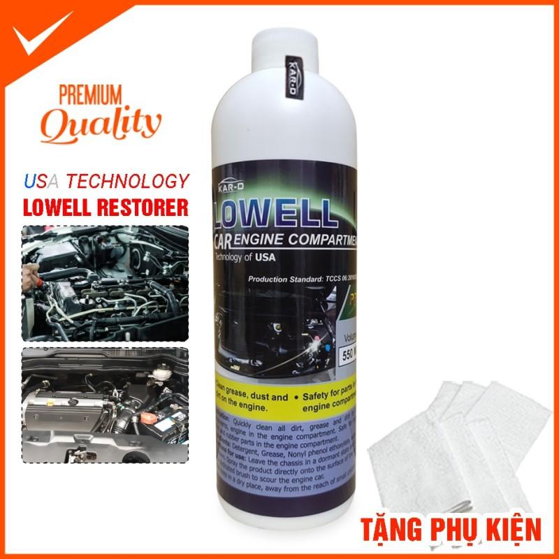 Vệ sinh dầu mỡ, bẩn khoang máy Lowell Car Engine Compartment DUNG TÍCH : 1 chai (550ml