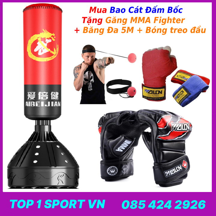 Bao Cát Boxing tự cân bằng dụng cụ thể dục thể thao tại nhà