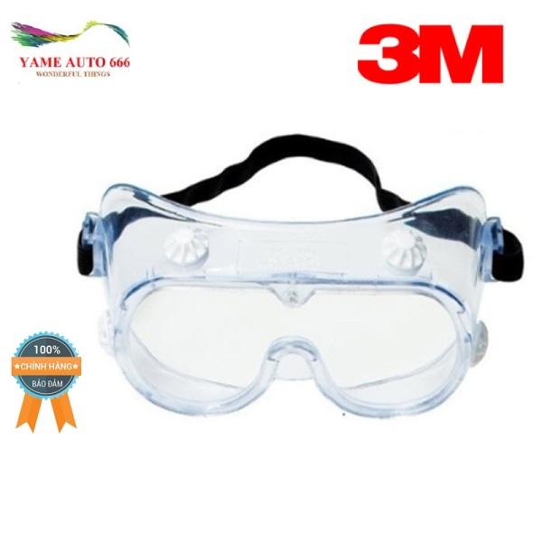Giá bán [ CAO CẤP] Kính bảo hộ chống hóa chất 3M 334 Splash Safety Goggles Anti-Fog Lens Yame Auto666