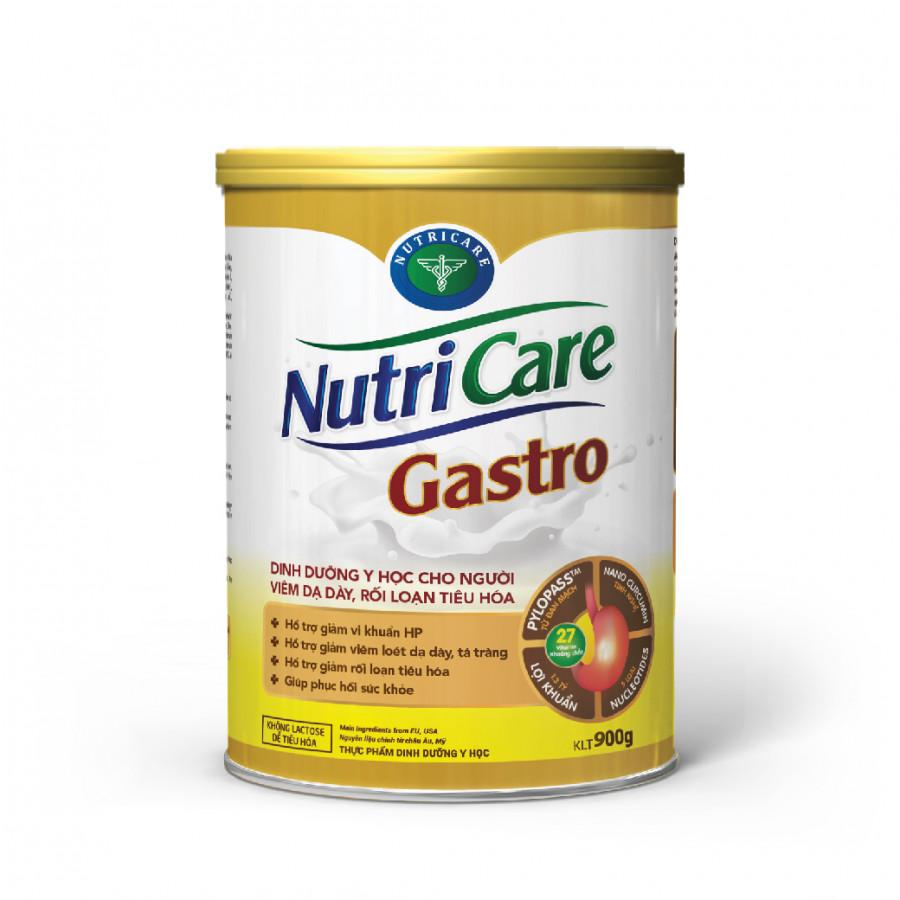 Sữa bột Nutricare Gastro - dinh dưỡng y học cho người viêm dạ dày, rối loạn tiêu hoá (900g)