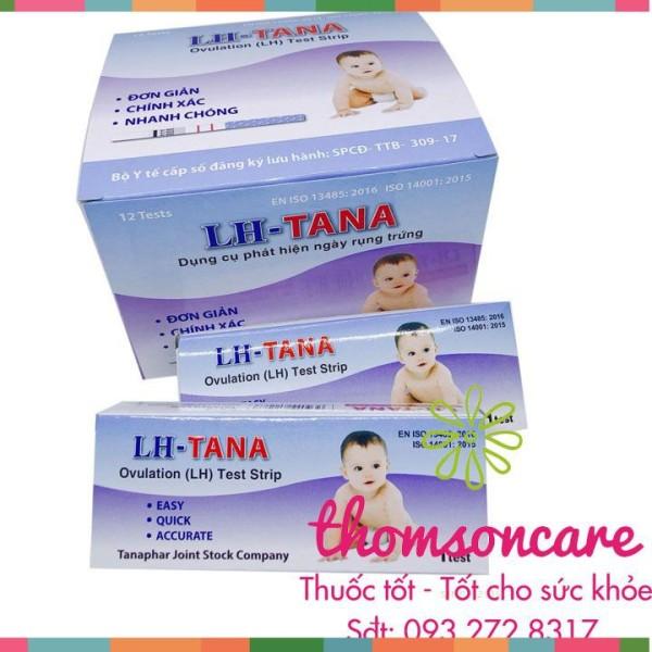 Que thử rụng trứng LH tana - Hộp 12 test nhanh, xác định thời điểm trứng rụng cao cấp
