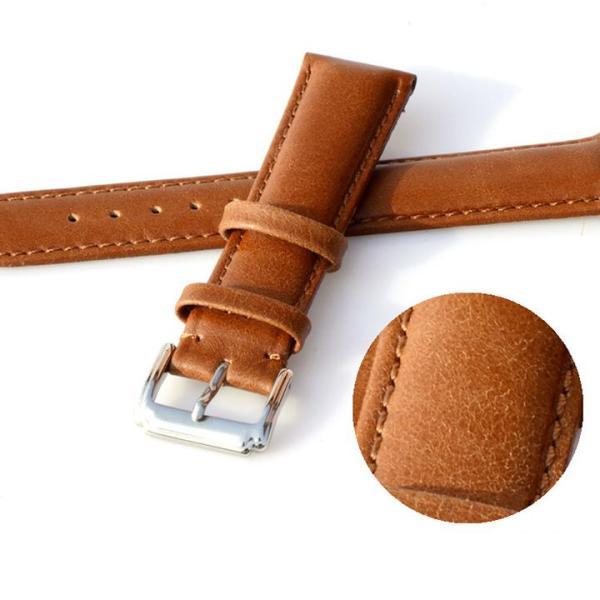 Dây đồng hồ da bò, dây da thật cao cấp mềm đẹp - Mã số: D1613 bán chạy