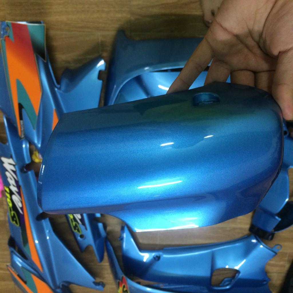 Dàn áo xe wave thái ,wave 110 ,wave 1 bóng ,wave alpha ,wave nhỏ ,nhựa ABS màu XANH NGỌC sản phẩm không bao gồm tem