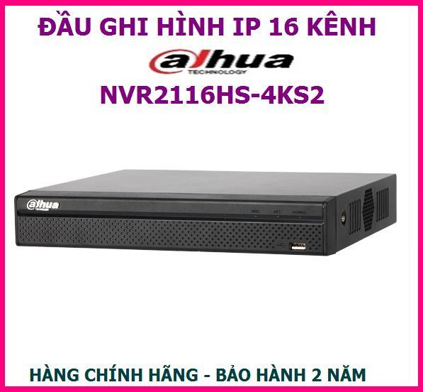 Đầu ghi hình 16 kênh IP DAHUA NVR2116HS-4KS2