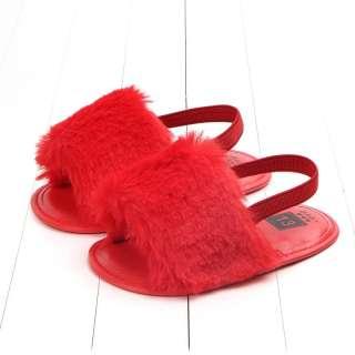 Giày sandal lông có quai cho bé gái(9-20 tháng)