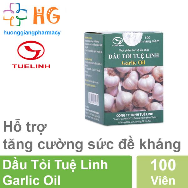 Dầu Tỏi Tuệ Linh Garlic Oil - Giảm mỡ máu, tăng sức đề kháng ( Lọ 100 viên )