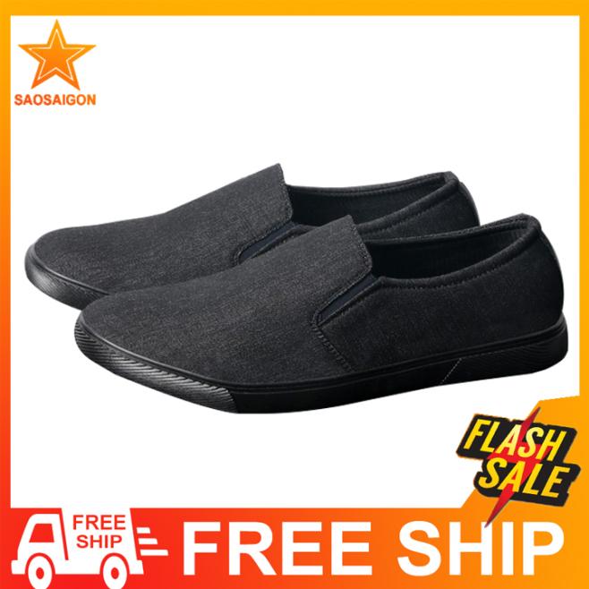 Giày lười nam thân vải đế chống trượt chất lượng siêu bền SG212 Saosaigon giá rẻ