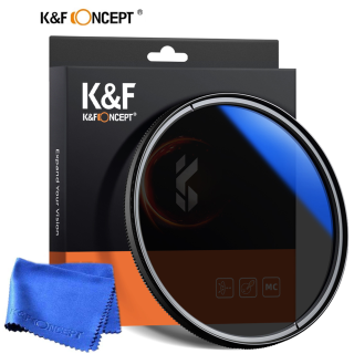 K&F Concept CPL Filter for Camera Lens 37 40.5 43 46 49 55 58 62 67 72 77 82mm Ultra Slim Optics Multi Coated Circular Polarizer Polarized Filter with Cleaning Cloth For Sony Nikon Canon DSLR Camera thumbnail