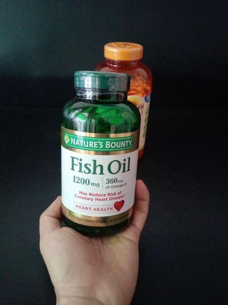 Dầu Cá Fish Oil Nature Bounty 1200mg OMEGA3 180 viên cao cấp
