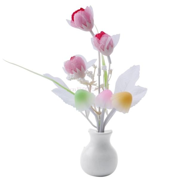 Bảng giá Đèn Ngủ Hoa Nấm Và Hoa Tulip Cảm Ứng Ánh Sáng