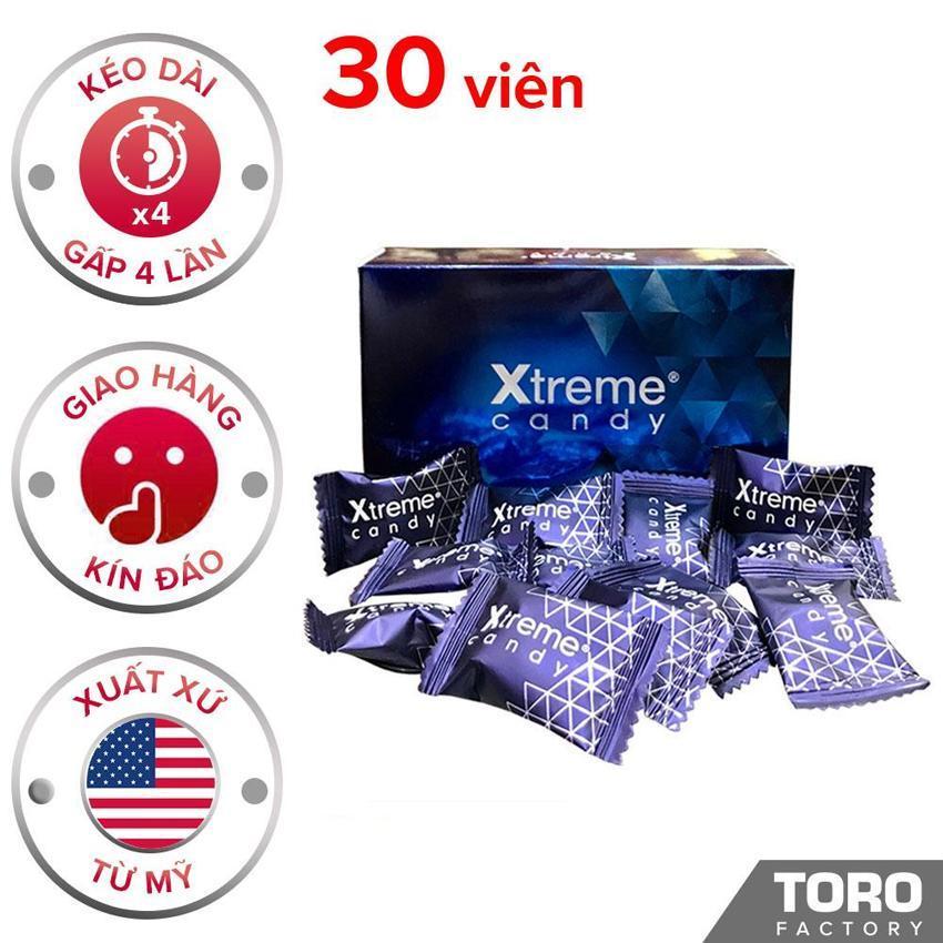 [Hiệu quả hơn 40% kẹo Hamer] Kẹo Sâm (Mỹ) Ultimate Xtreme Flavor - Trị xuất tinh sớm , Kéo dài thời gian quan hệ, tăng cường sức khỏe nam giới - (30 viên) - [TORO FACTORY] nhập khẩu