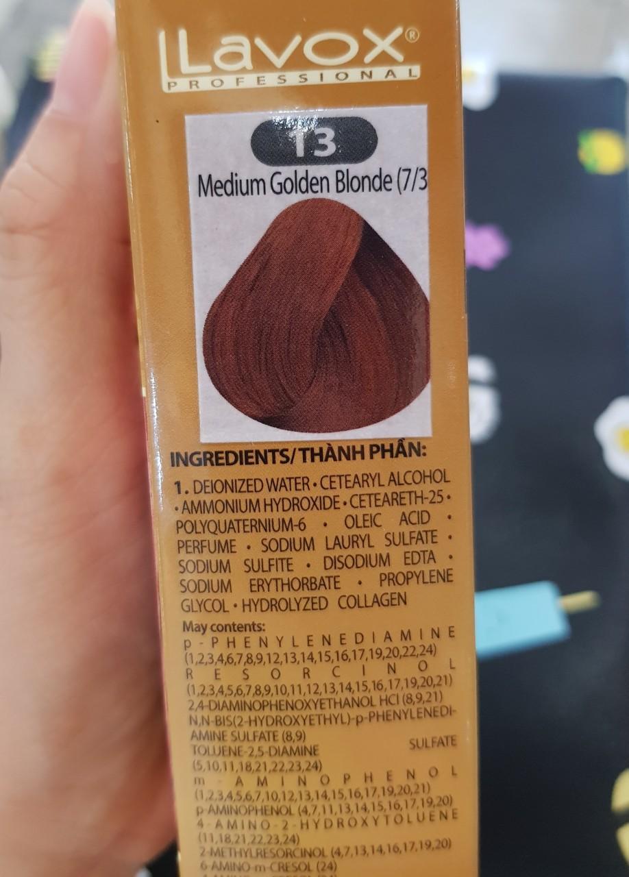 NhuộmNano Collagen Lavox medium golden Blonde - #13 ( Vàng trung bình )