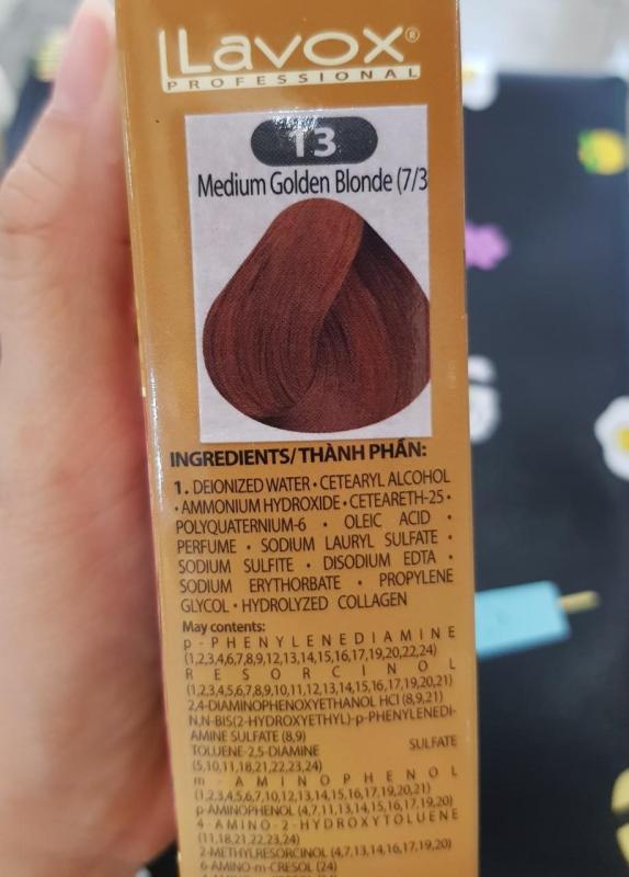 NhuộmNano Collagen Lavox medium golden Blonde - #13 ( Vàng trung bình ) cao cấp