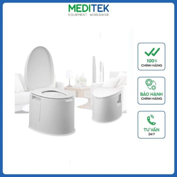 Bô vệ sinh di động cho người già, ốm, khuyết tật, có quai xách, như toilet thông thường, xuất xứ Trung Quốc
