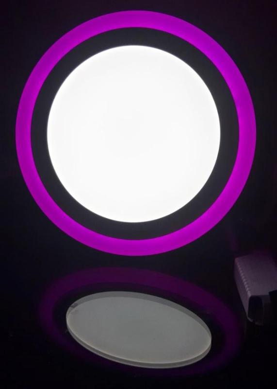 Đèn led nổi ốp trần 24w tròn 2 màu 3 chế độ ánh sáng trắng hồng