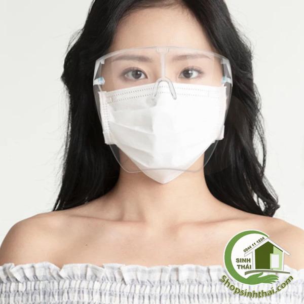 Giá bán Kính chống giọt bắn, che mặt, phòng dịch, bảo hộ, Face Shield trong suốt, cao cấp, không sương mù