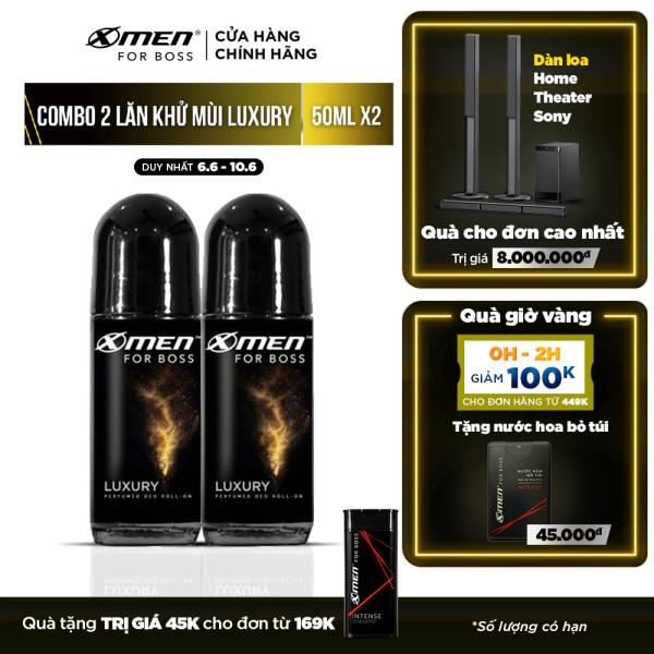 Combo 2 Lăn khử mùi X-men For Boss 50ml - Hương Luxury