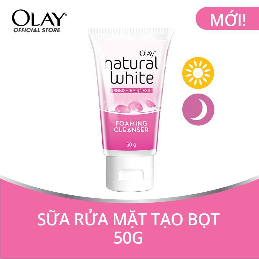 Sữa rửa mặt tạo bọt Olay Natural White Foaming Cleanser 50g tốt nhất