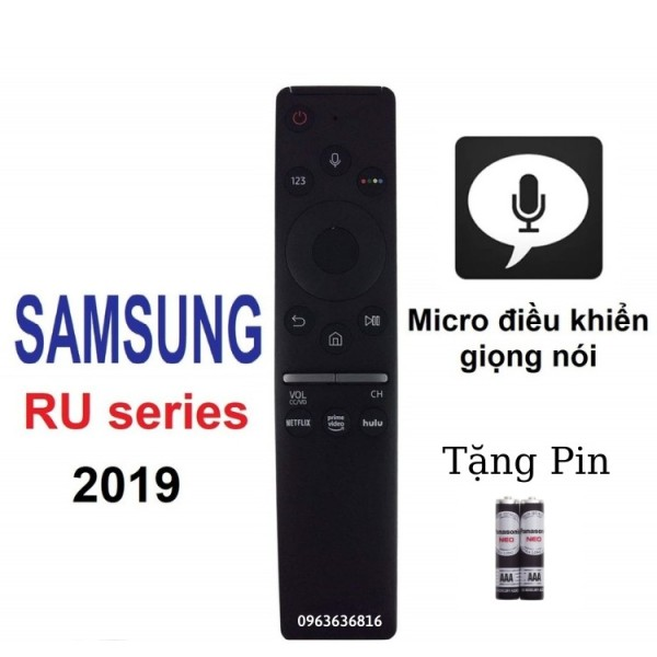 Bảng giá điều khiển tivi SAMSUNG smart dòng RU giọng nói 2019