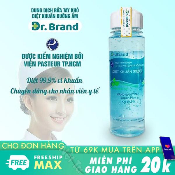 Nước rửa tay dạng gel Dr.Brand 100ml hương cam quế và bạc hà tiêu diệt nhanh 99,99% vi khuẩn, virut an toàn dịu nhẹ cho da tay