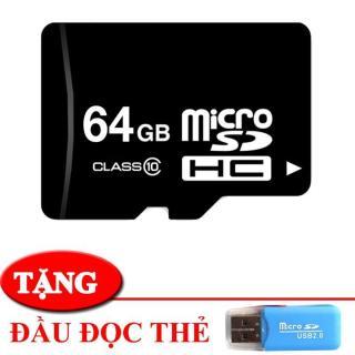 thẻ nhớ 64gb - micro sdxc 64g tặng kèm đầu đọc thẻ - tăng khả năng lưu trữ thumbnail