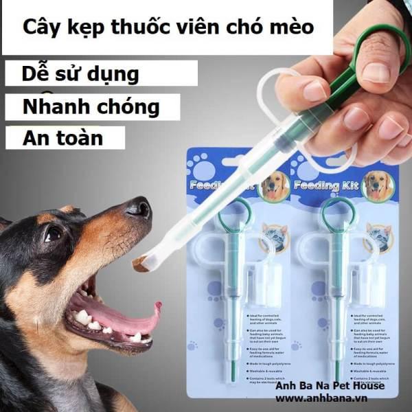 Dụng Cụ Bơm Thuốc Cho Chó Mèo Xilanh gắp thuốc