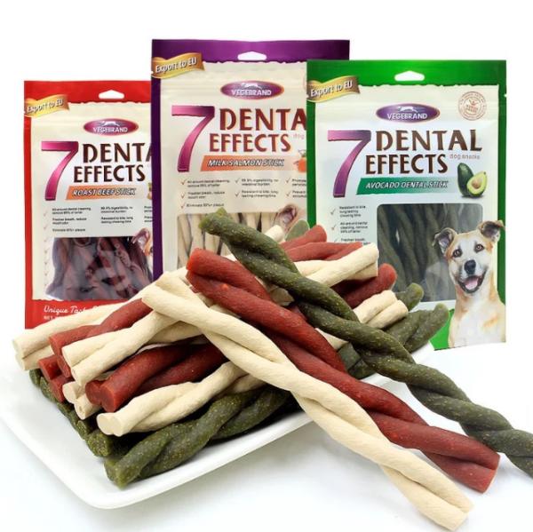 Đồ Ăn Vặt Xương Gặm Sạch Răng Thơm Miệng Vị Sữa Cá Hồi Thịt Bò Đậu Phộng Denteal EffEcts 160g
