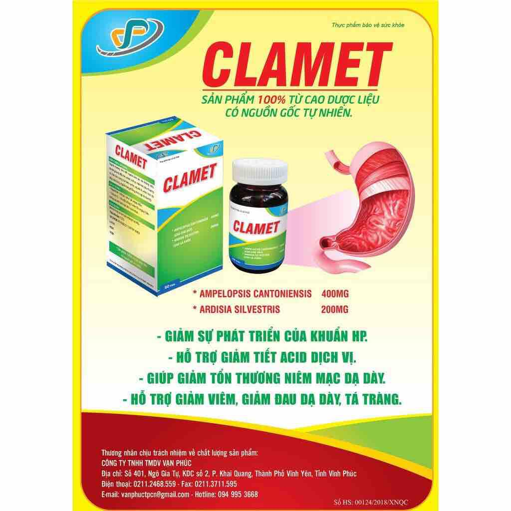CLAMET. Giá 220.000₫ nhập khẩu