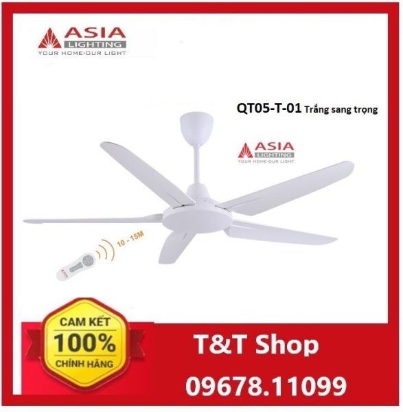 Quạt trần cao cấp QT05-T-01 Asia màu trắng sang trọng