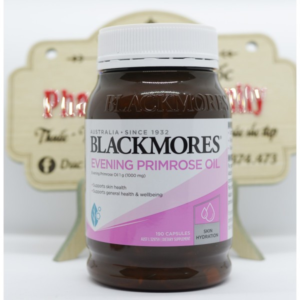 Blackmores Evening Primrose [Úc] Tinh Dầu Hoa Anh Thảo-Cung Cấp Omega 6 Và Axit Gmama- Linolenic- 190 Viên- Mẫu Mới 2020 giá rẻ