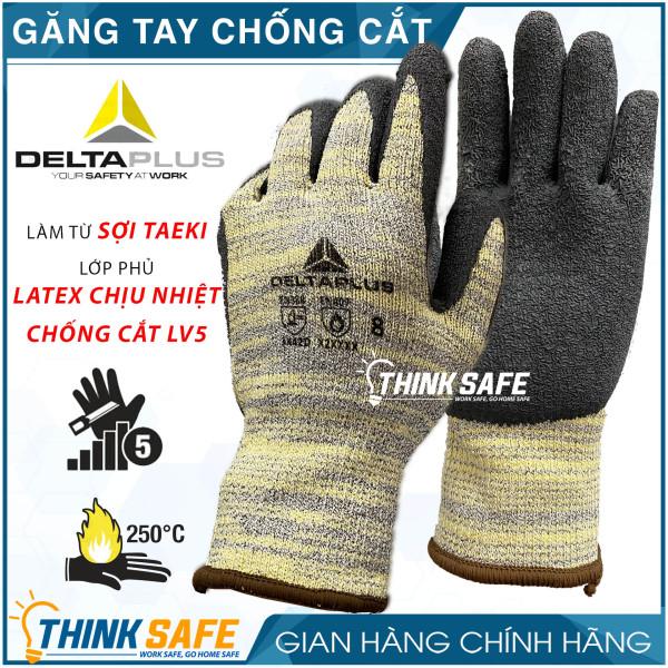 Găng tay chống cắt Venicut52 chống cắt, chịu nhiệt 250°C, ôm tay bám chắc (vàng đen)