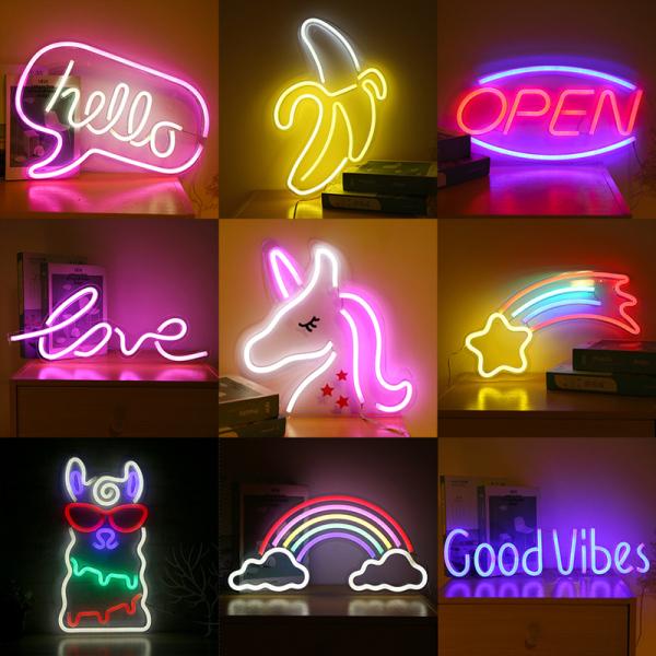 Bảng giá [ Tặng Cóc Sạc & Móc Treo ] Đèn LED Neon Cắm Điện Cổng USB Bóng Đèn Chống Thấm Nước Chữ Đa Dạng Mẫu Mã Màu Sắc Decor Phòng Ngủ, Nhà Hàng, Khách Sạn, Homestay, Quán Bar Chill BigSize