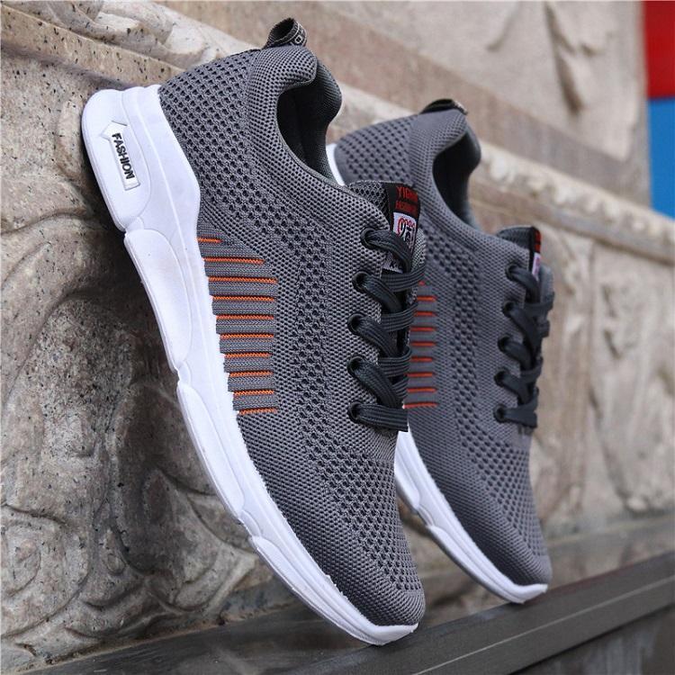 Giày sneaker nam thời trang 2 màu (xám - đen) ADODA - ADDGN331