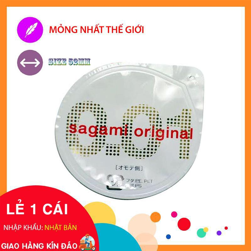 Bao cao su cực siêu mỏng Sagami Original 0.01 - Lẻ 1 Cái cao cấp
