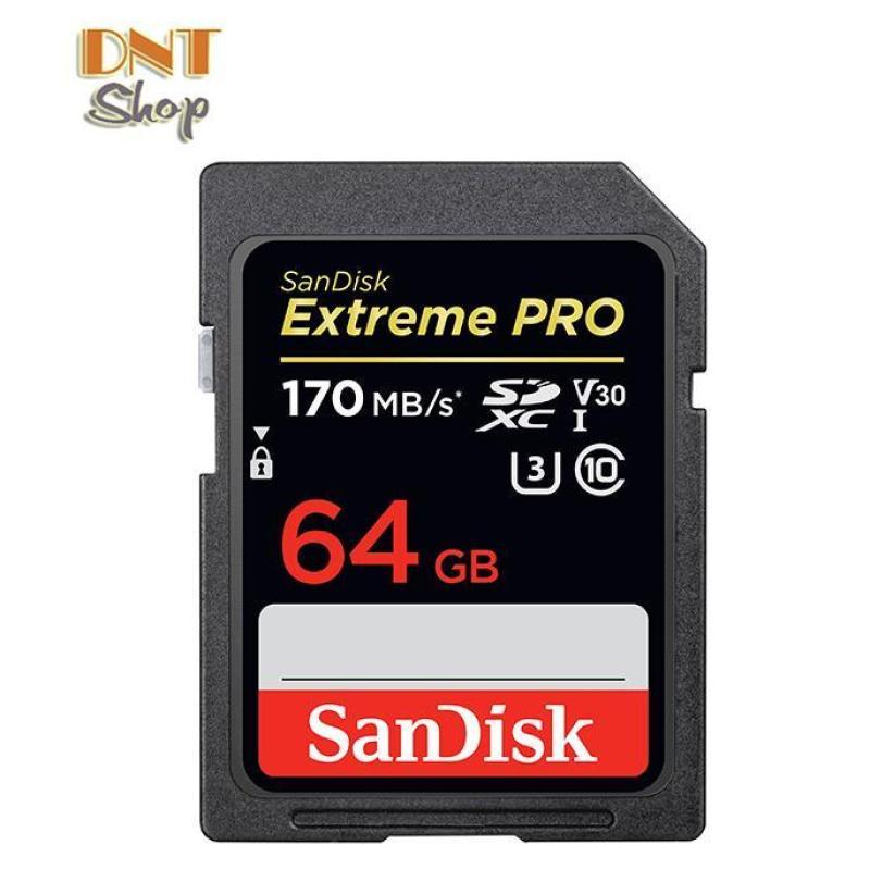 Thẻ nhớ SDXC SanDisk Extreme PRO 64GB UHS-I U3 4K V30 170MB/s - Model 2019 (SDSDXXY-064G-ANCIN)