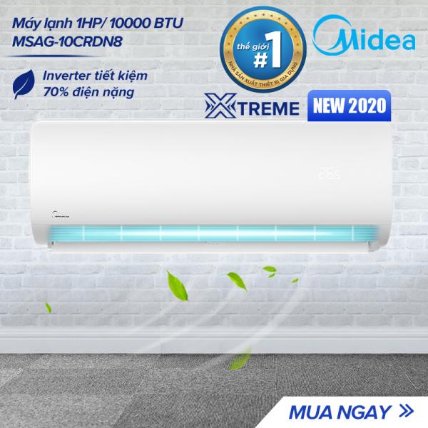 Máy Lạnh Midea Inverter 1HP MSAG-10CRDN8 2020 - Tiết kiệm 70% Điện, Lọc Khuẩn Tới 99.9% - Hàng Phân Phối Chính Hãng Bảo Hành 3 Năm