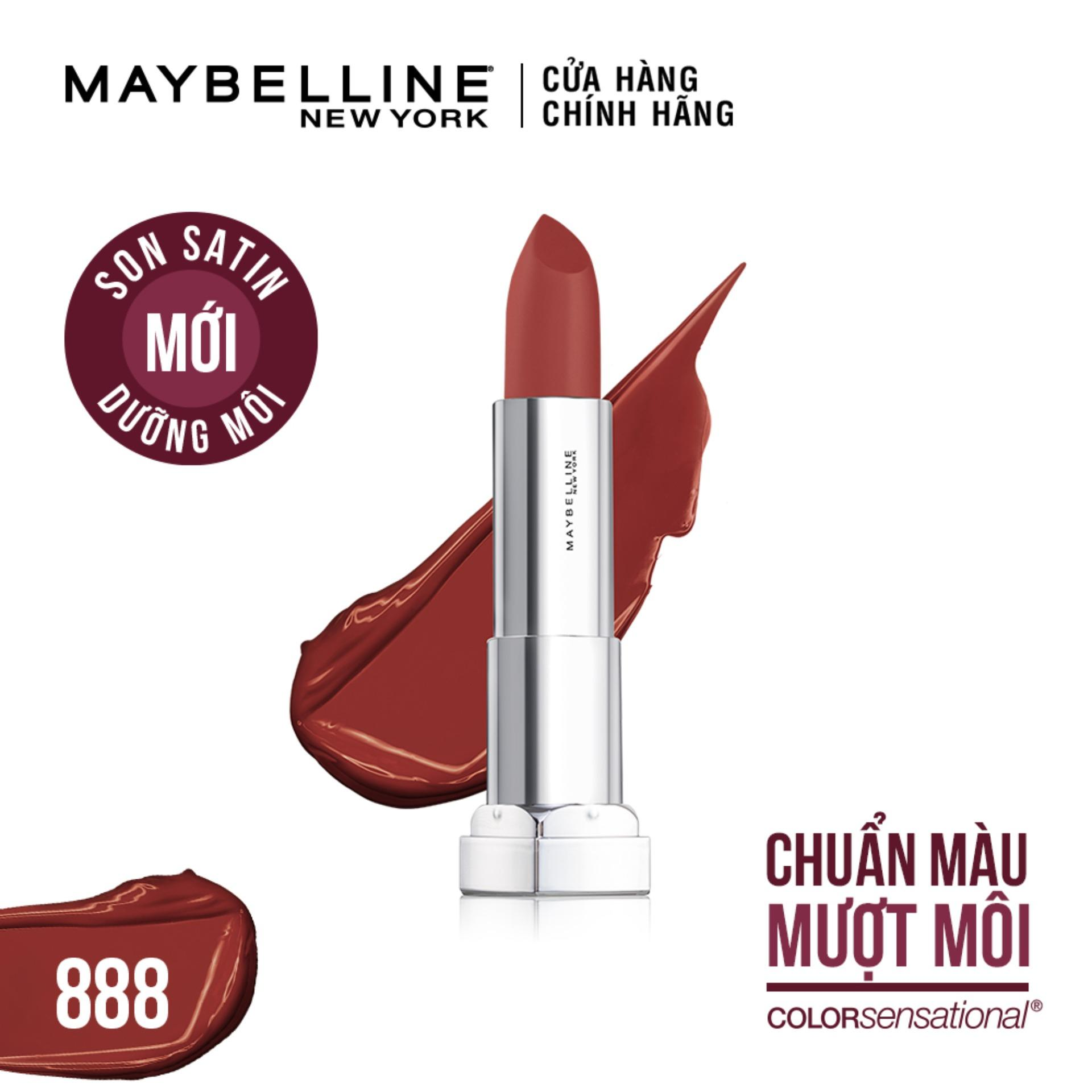 Son satin dưỡng môi Maybelline New York Color Sensational State Your Color 3.9g tốt nhất