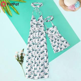 Đầm Dài In Hoa Cổ Chữ V PatPat, Đầm Phù Hợp Với Gia Đình, Cho Mẹ Và Con Gái