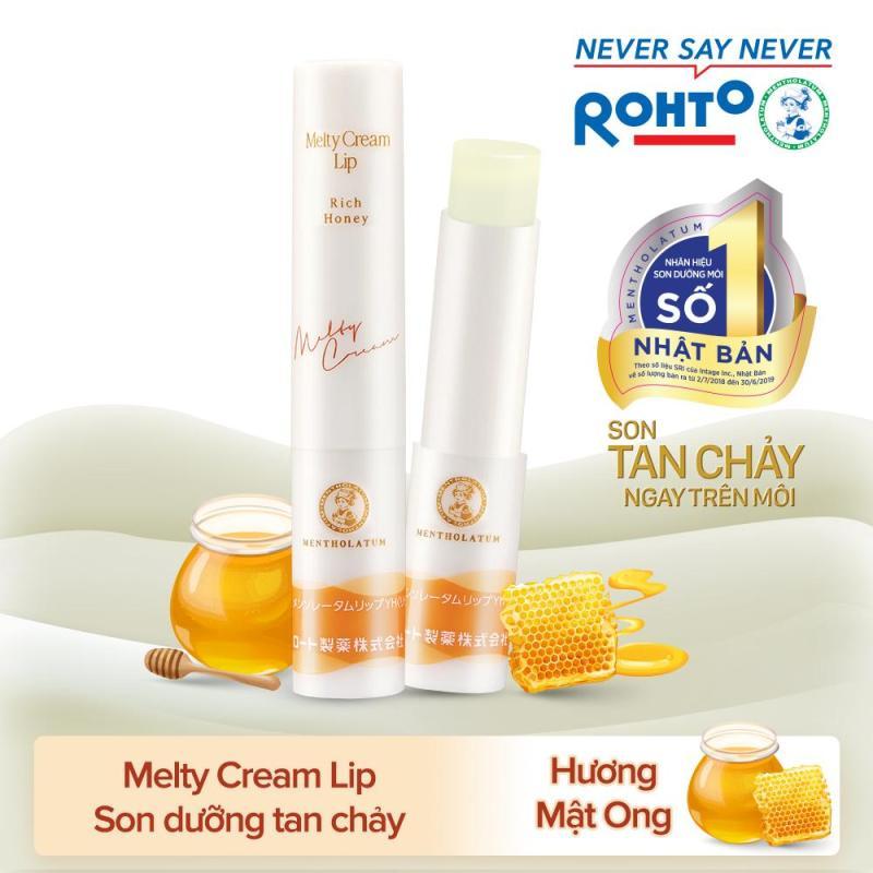 Son tan chảy dưỡng môi chống nắng Mentholatum Melty Cream Lip SPF25, PA+++ Rich Honey 2.4g (hương Mật Ong) giá rẻ