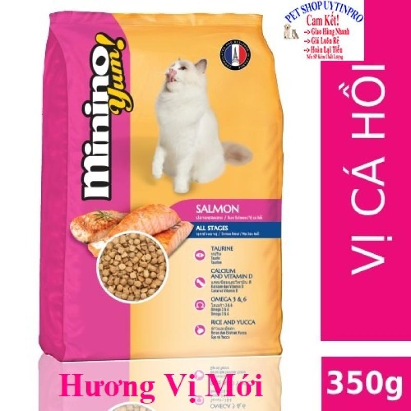 THỨC ĂN CHO MÈO Minino Yum dạng hạt Vị cá Hồi Gói 350g Thương hiệu Pháp