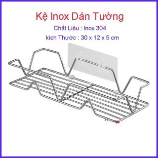 Giá treo đồ nhà tắm INOX 304 Dán Tường, Kệ đựng dầu gội sữa tắm gia vị nhà bếp kích thước 30cm thumbnail