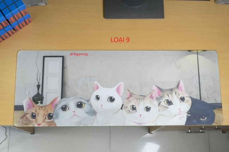 Giá Bàn di chuột, miếng lót chuột, mouse pad size 80x30, 90x40 (mẫu mới 2019) gấu, chó, mèo, supreme dễ thương