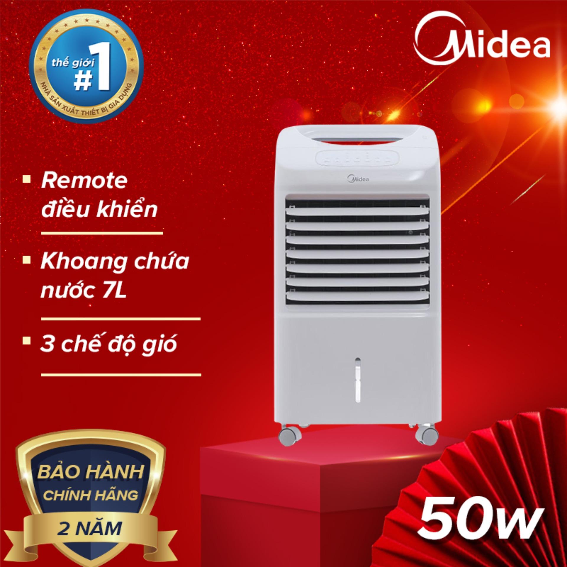 Bảng giá Quạt điều hòa hẹn giờ điều khiển từ xa MIDEA AC100-U (đa chức năng, 50W dung tích 7L) Tự động tắt bơm khi hết nước - Hàng chính hãng bảo hành 2 năm
