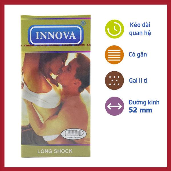 Bao cao su gân gai kéo dài thời gian INNOVA hộp 12c cao cấp